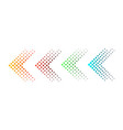 set of arrows with halftone effect vector image vector image