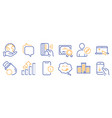 set technology icons such as edit user vector image vector image