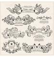 set vintage victorian ornaments wedding design vector image