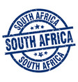 south africa blue round grunge stamp vector image vector image