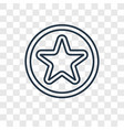 star point concept linear icon isolated on vector image