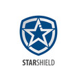 star shield logo concept design symbol graphic vector image vector image