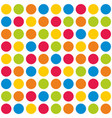tile colorful polka dots pattern on white vector image vector image