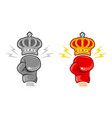 two gloves and crown for boxing vector image vector image