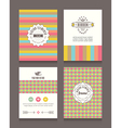 Vintage retro frames and backgrounds Design vector image vector image