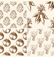 vintage vegetable patterns vector image vector image