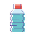 water plastic bottle to drink and healthy vector image vector image