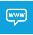 WWW message icon vector image vector image
