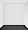Empty corner in the room - vector image