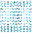 100 gadget icons set cartoon style vector image vector image