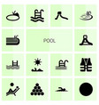 14 pool icons vector image vector image