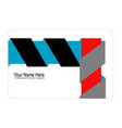 3d ribbon concept business card style vector image vector image