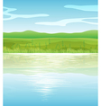 A calm blue lake vector image vector image