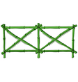 A green bamboo fence vector image vector image
