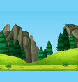 a nature green landscape vector image vector image