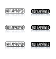 A set of stamps not approved vector image vector image