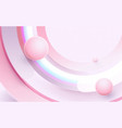 abstract flying geometric shapes in motion vector image
