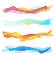abstract smooth wave set vector image