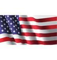 american flag waving vector image vector image