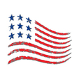 American wave flag Independence Day vector image vector image