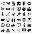 analysis icons set simple style vector image vector image