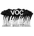 artistic drawing of smoking smokestacks concept vector image vector image