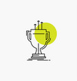 award competitive cup edge prize line icon vector image vector image