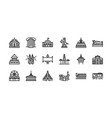 bangkok symbols and landmarks icon set 2 vector image