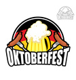 Beer Festival Oktoberfest in Germany Beer mug on vector image vector image