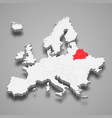 belarus country location within europe 3d map