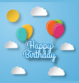 birthday background holiday template vector image vector image
