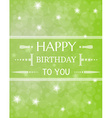 birthday card with shinning stars vector image vector image
