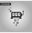 black and white style slot machine vector image