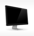 black lcd screen sideview vector image