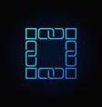 blockchain technology blue icon block vector image vector image
