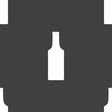 bottle icon sign Seamless pattern on a gray vector image vector image