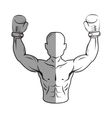 boxer silhouette avatar icon vector image vector image