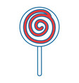 candy sweet isolated icon vector image vector image