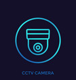 cctv camera icon sign vector image vector image
