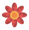colorful flower view graphic vector image vector image