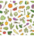 colorful natural seamless pattern with vegetables vector image