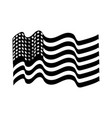 contour usa flag to celebrate holiday patriotic vector image vector image