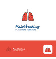 creative lungs logo design flat color logo place vector image