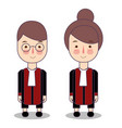 cute cartoon of a judge kids vector image vector image