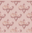 damask pattern rose gold seamless background with vector image vector image