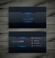 dark business card template vector image vector image