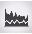 diagram icon graphs icon vector image vector image