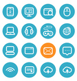 Different application icons set with rounded corne vector image