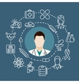 doctor with a stethoscope vector image vector image