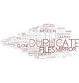 duplicate word cloud concept vector image vector image
